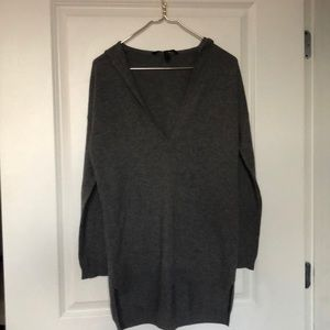 BCBG hooded cashmere sweater